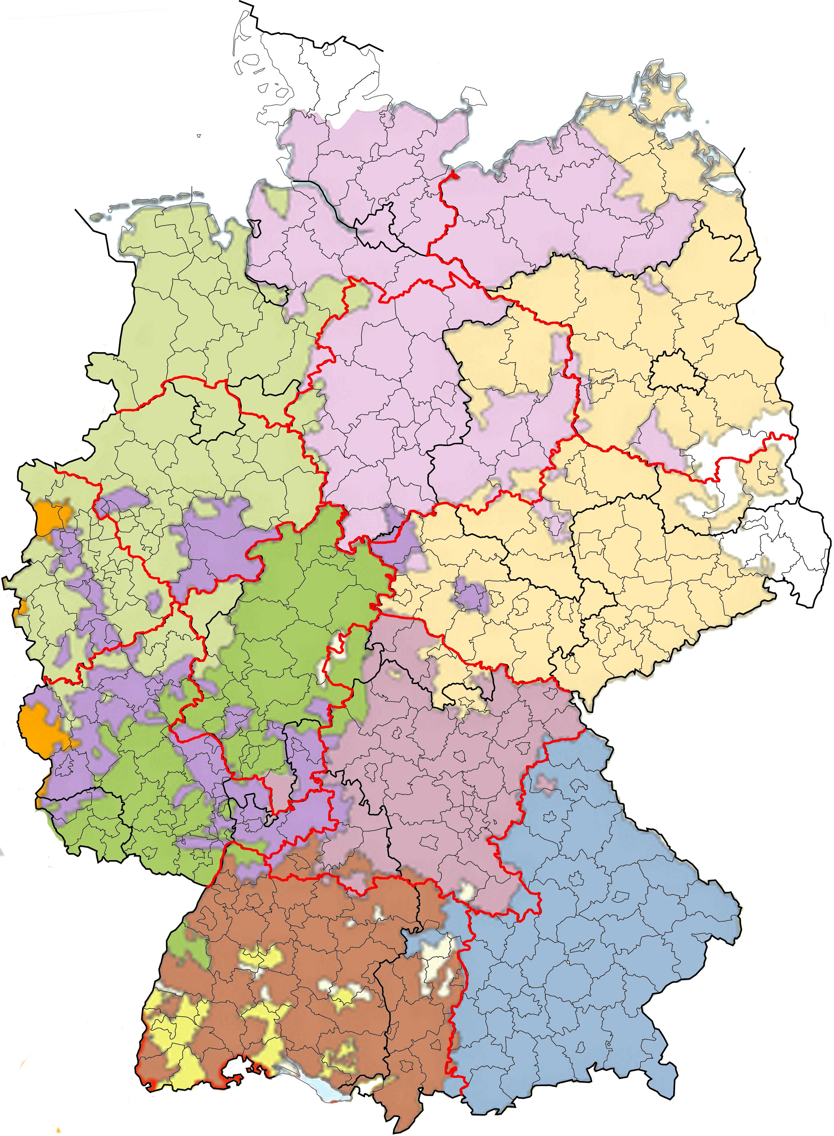 Neugliederung als Chance - Bildung bedeutet Freiheit - Bundesrepublik Deutschland Bundesländer Karte